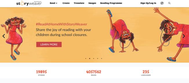 Meertalige kinderen leren en lezen op afstand- StoryWeaver